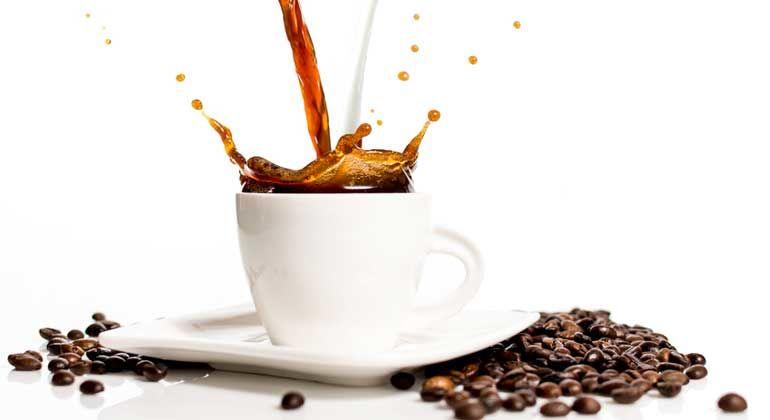 coffee splashing into cup