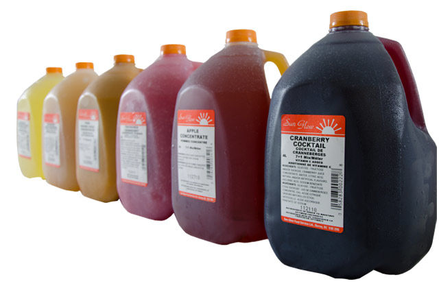 A variety of Sun Glow's cold beverages